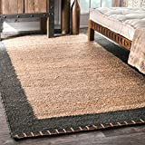 nuLOOM Cameron Hand Woven Jute Rug, 7' 6' x 9' 6', Natural