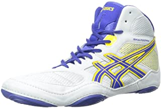 ASICS Snapdown 男士摔跤鞋 灰色/正蓝色/向日葵 11 M US