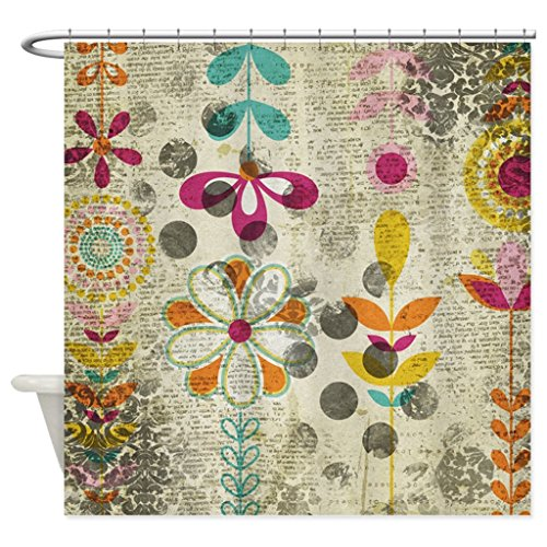 eikleom Bohemian Boho Blumen Duschvorhang 180x 180cm wasserdicht Polyester