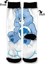 PengYou High Ankle Socks,Grumpy Bear Cartoon Men Women All Season Soft Cotton Breathable Printed Socks