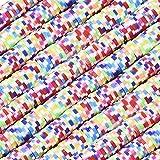 Ornaland 10 Stränge Flache Perlen Mischfarbe R&e Flache Handgemachte Polymer Clay Spacer Perle für DIY Schmuck
