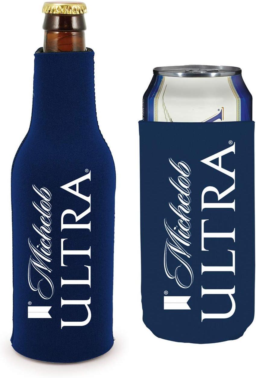 Michelob Ultra Slim Can Licensed Beer Coolie Holder Huggie 2-Pack: Cold Beverage Koozies: Home & Kitchen