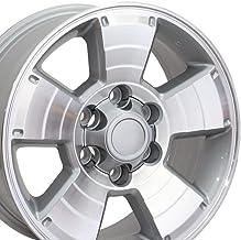 OE Wheels LLC 17 Inch Fit Toyota 4Runner Tundra Tacoma Silver Mach'd 17x7.5 Rims Hollander 69429 SET