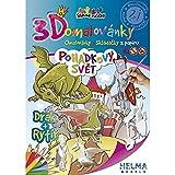 Divertido libro para colorear 3D para niños + juguete plegable 3D de papel para pintar. Regalo educativo para niñas y niños.