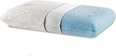 """The White Willow Memory Foam Cooling Gel Orthopedic Bed Pillow for Sleeping & Neck Pain Relief Suitable for Back Sleeper, Side Sleeper & Stomach Sleeper with Pillow Cover (22"""" L x 15"""" W x 4"""" H,Multi)"""