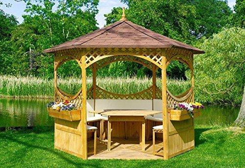 Promadino Set Pavillon Palma Bitumenschindeldach Komplett 326x326x280cm 504120