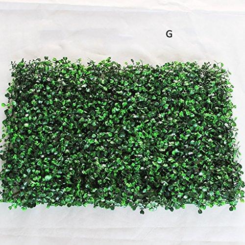 WENZHEjiahua Artificiel Lierre Plantes Feuille Vigne Suspendue Feuilles Tapis De Pelouse Décoration, 7 Styles, 40 * 60cm (Couleur : G, Taille : 2 Pieces)