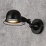 LLLKKK Lámpara de pared de hierro fundido, cuerpo de luz de...