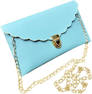 LHKFNU Ladies Handbag Imitation Leather Shoulder Bag Fashion Wallet Long Metal Chain Lady Handbag