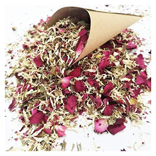 Fleurs séchées Mariage créatif confetti cône jeter des pétales séchés de la décoration populaire de mariage et de fête biodégradable pétale de rose confettis fleurs séchées pressées ( Color : 12PCS )