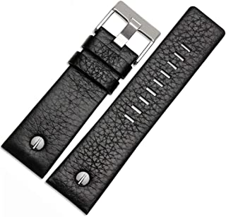 Diesel Calfskin Leather Watch Band Strap with Tool 22mm 24mm 26mm 28mm 30mm Replacement for Men's Diesel Watches