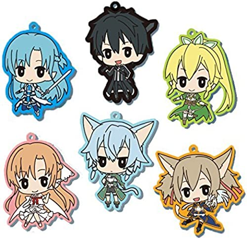 Theatrical Sword Art Online - Audio Naru scale - deformed rubber strap all six