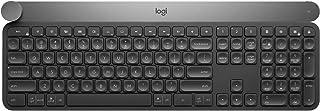 Logitech Craft Illuminated Wireless Keyboard, 2.4GHz Wireless and Bluetooth, Programmable Input Dial, Multi-Device, Automa...