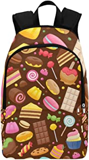 Assorted Sweets Colorful Lollipops Casual Daypack Travel Bag College School Backpack for Mens and Women