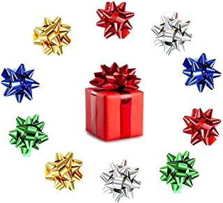 100pcs Mini Gift Bow, Metallic Ribbon Star Bow 1