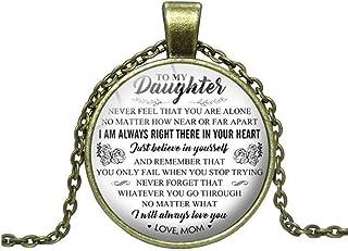KISSFRIDAYレターペンダント私の娘へママタイム宝石ガラスのネックレスセーターチェーンジュエリー
