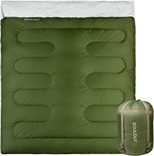 Sleeping Bag - 4 Seasons Warm Cold Weather Lightweight, Portable, Waterproof Sleeping Bag with Compression Sack for Adults...