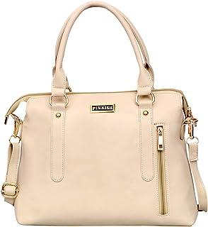 Pinkish Premium PU Leather Women's Handbag (PK-Daily-026_Cream)