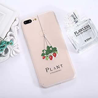QFH For iPhone 8 Plus & 7 Plus Succulents Pattern TPU Dropproof Protective Back Cover Case new style phone case (Color : Color2)