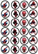 24 Muffin   Cupcake Aufleger Fondant Spiderman C2