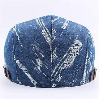 Unisex Men Women Denim Jeans Washed Beret Hats Casual Duckbill Golf Buckle Adjustable Cabbie Cap Hats & Caps (Color : Bronze)