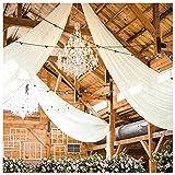 Hochzeits-Deckenvorhänge, 2 Paneele, 1,5 x 3 m,