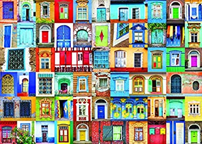 1000 Piece Puzzle for Adults: Delightful Doors and Windows Jigsaw Puzzle from Littlefeet Direct