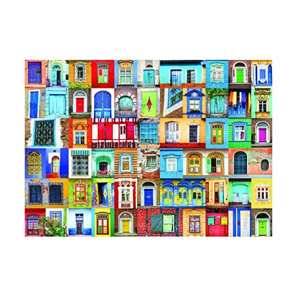 1000 Piece Puzzle for Adults: Delightful Doors and Windows Jigsaw Puzzle