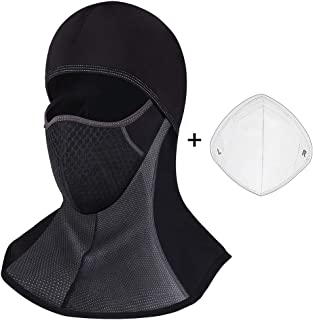Pasamontañas Moto Negro Impermeable Esquí Ciclismo Snowboard Máscara Facial de Deportes al Aire Libre Calentar a Prueba de Viento Tamaño Universal