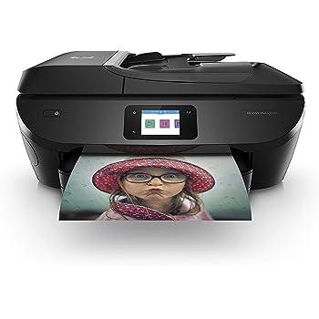 HP Envy Photo 7830 Stampante Fotografica Multifunzione a Getto di Inchiostro, Stampa, Scannerizza, Fotocopia, Fax, Wi-Fi Direct, Ethernet, 4 Mesi di Servizio Instant Ink Inclusi, Nero