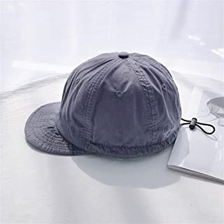 SHENTIANWEI [Chi] Confusion Outdoor Tourism Ms. Soft hat Baseball Cap Spring and Summer Sun hat Drawstring Tooling (Color : Grey, Size : One Size)