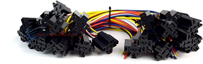 25 PCS Economy 6 5-Wire Relay Socket w/ Leads ERS-124 High Quality Install Bay