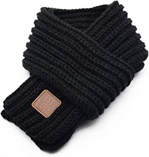 BOTINDO Kids Knitted Scarf in Winter-Unisex Stylish Soft Warm Scarf-Solid Color Scarf for Kids&Toddlers