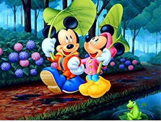 DAFFG DIY Mickey Mousepeinture l'huile Numérique Peindre Cadeau De Peinture par Numéro Kit Enfants Adultes Loisirs Créatif...