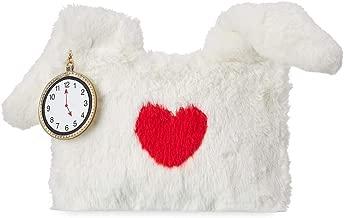 Disney Plush White Rabbit Pouch Alice in Wonderland Clutch Purse