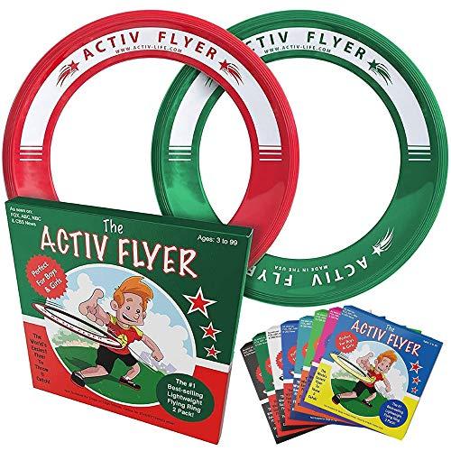 Activ Life Discos Voladores Best Kid [Pack de 2] Vuelan Recto y No Lastiman - Reemplaza el Tiempo Frente a la Pantalla por Tiempo de Diversión en Familia (Christmas)