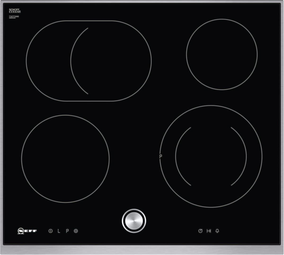 Neff t16bt76 N0 hobs eléctrico/vitrocerámica/vidrio y cerámica/58,30 cm/interfaz de cocina vitrocerámica/vidrio y cerámica/Negro