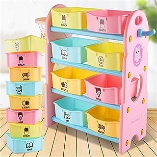 Jouets storage Enfants Toy Storage Organizer avec des bacs en plastique, boîte de rangement étagère parfait for le stockag...