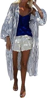 Women Summer Open Front Kimono Cardigan Loose Beach Cover Up Dress