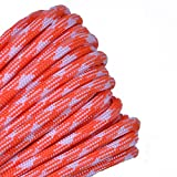 BORED? PARACORD! - 1', 10', 25', 50', 100' Hanks & 250', 1000' Spools of Parachute 550 Cord Type III 7 Strand Paracord Well Over 300 Colors - Creamsicle - 100 Feet
