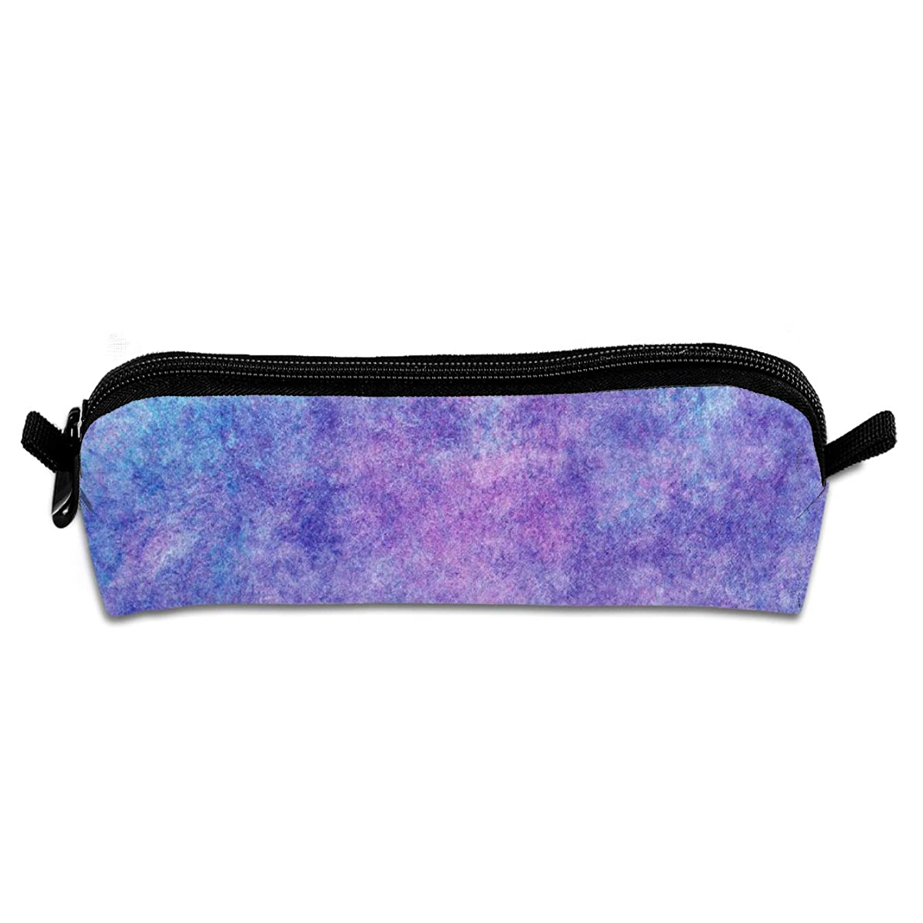 AZOULA Blue and Purple Texture Pencil Case Portable Durable Compact Pencil Bag with Zipper for School & Office Supplies
