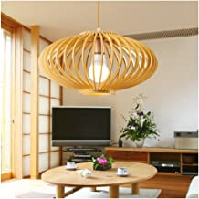 Kitchen Personality Hang Lamp Southeast Asian Bamboo Pendant Light Tea House Lantern Ceiling Light E27*3 Light Source