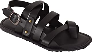 VONZO Men Black Casual Sandal with Toe