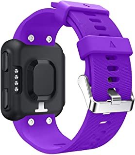 Consumer Electronics Silicone Sport Wrist Strap for Garmin Foreruuner 35 (Aqua Blue) (Color : Purple)
