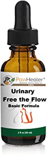 PawHealer Bladder Stones/Crystals: Urinary Free The Flow: Basic Formula - Herbal Liquid Herbs for Cats - 2 fl oz (59 ml) -...