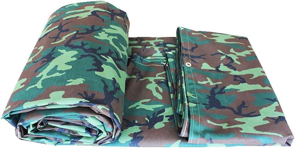 FERZA Home Tente extérieure bache de Camouflage imperméable Poncho Tapis de Camping Toile de Tente Cargaison extérieure Isolation Solaire Prougeection Usure Toile (Couleur   A, Taille   4  8m)