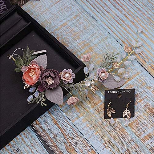 GLITZFAS Brautschmuck Haarschmuck Handgemachte Braut Party Hochzeit Haarschmuck für Frauen und Mädchen