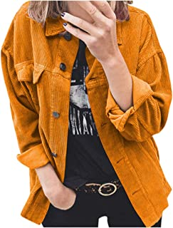 QWERTYUIOP Jacket Women Spring and Autumn Long-Sleeved Clothes Jackets Outwear Shirt Solid Button Female Jacket Coat