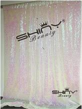 4FTx6FT Sparkly Sequin Photo Backdrop, Photo Booth, Photography Backdrop, DIY Photobooth, Wedding Backdrop, Sparkle Backdrop, Grad Party, Birthday (Iridescent White)
