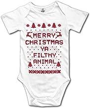 Merry Christmas Ya Filthy Animal Kids Baby Onesies Romper